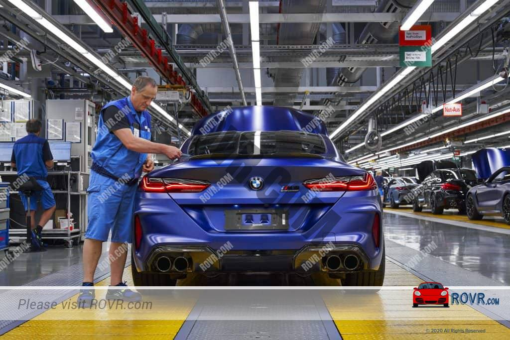New BMW on the factory line