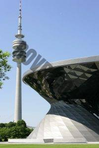 The Olympiapark is directly across the street from the BMW Welt in Munich