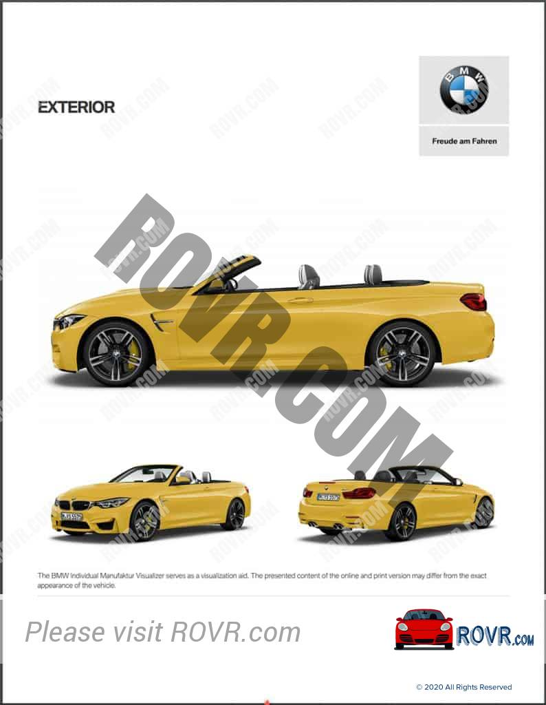 BMW Individual M4 Yellow - Visualizer Output