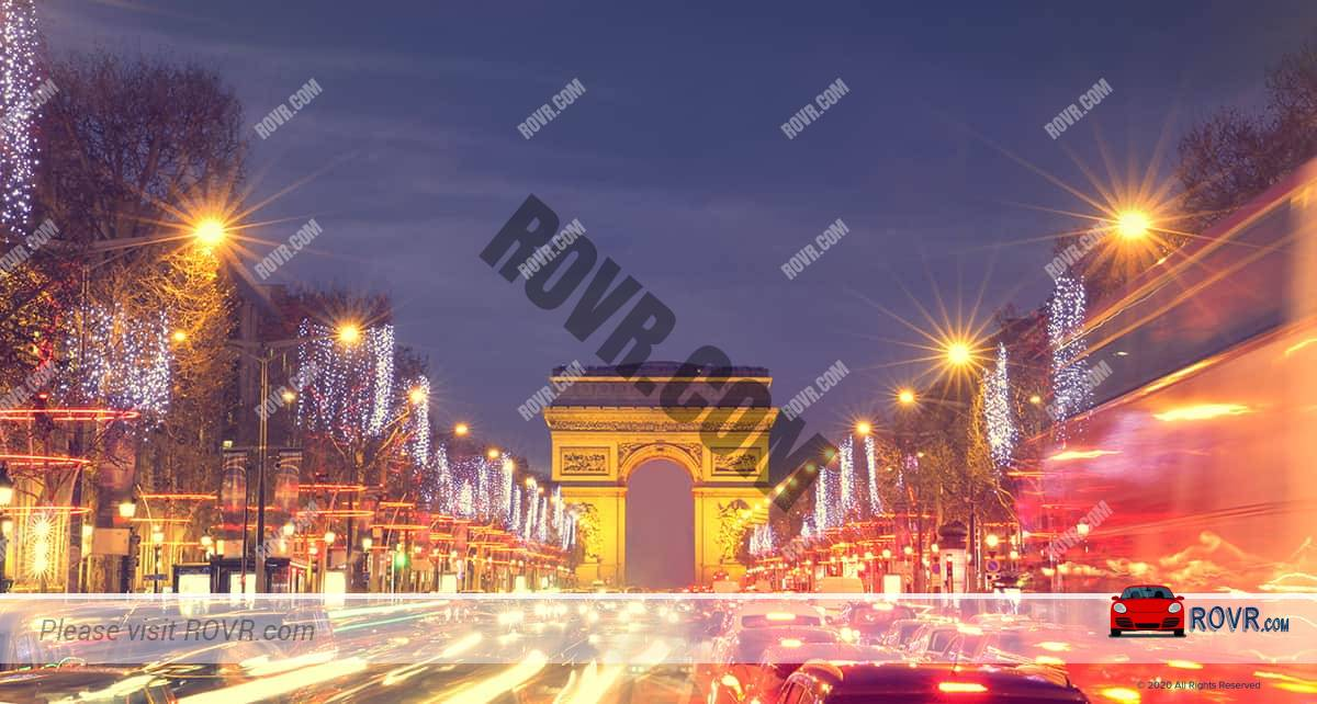 champs elysees in Paris
